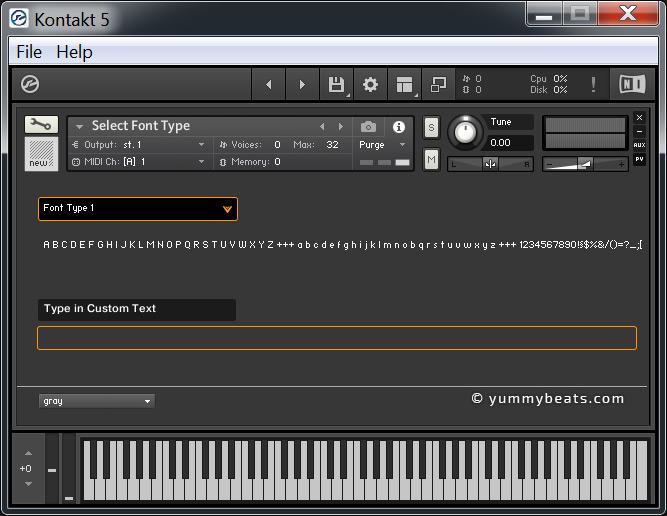 Kontakt Scripting (KSP) :: Fonts – List All Font Types, Tool
